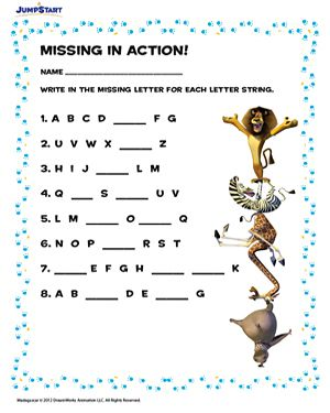 math worksheet : 1000 images about jumpstart s madagascar worksheets on pinterest  : Free Abc Worksheets For Kindergarten