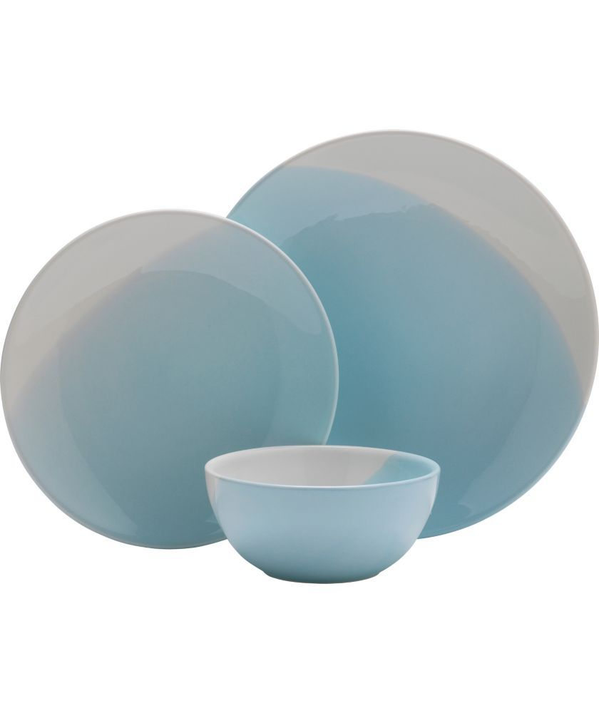 Buy Heart of House Dipped Earth 12 Piece Dinner Set - Duck Egg at ...