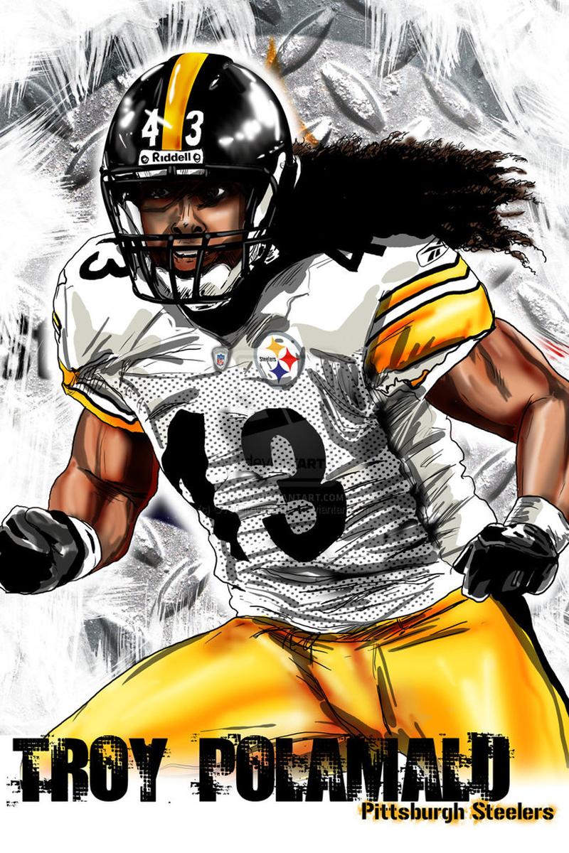 Troy 43 Illustration Steelers Png 800 1 200 Pixels Steelers Steelers Girl Pittsburgh Steelers Football