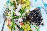 gæstemad, madopskrifter, mad, opskrifter, opskrift, foie gras, pighvar, forret, dessert