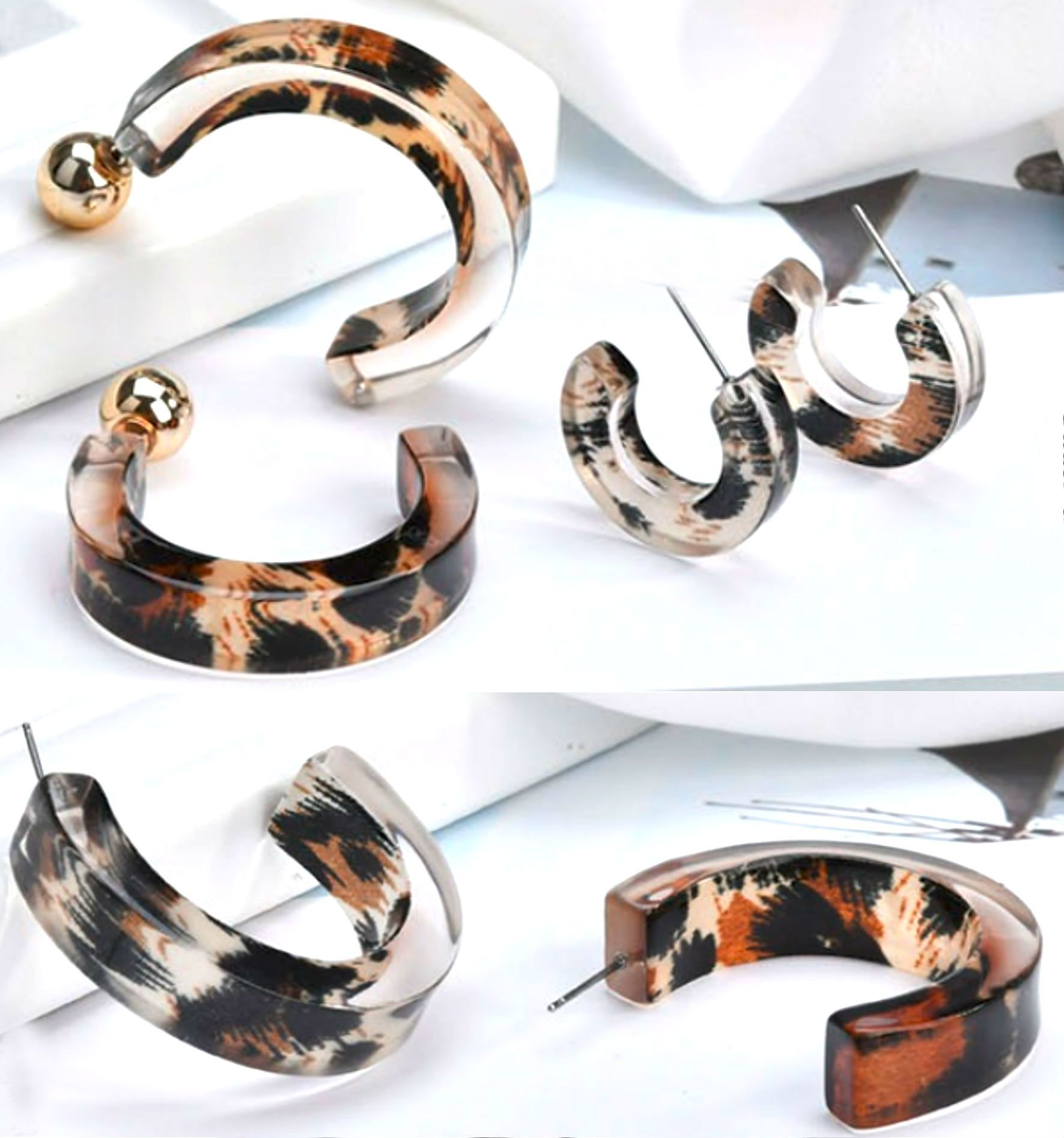 Acrylic Semi-Circle Hoops
