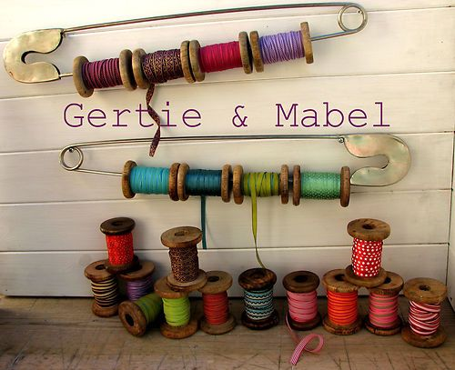 Giant Safety Pin Clever Storage For Large Ribbon Spools Easy