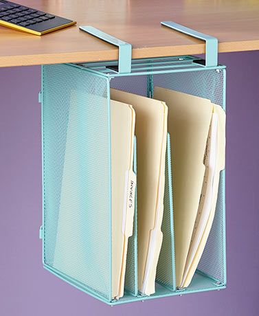 Space Saving File Organizers Work Space Organization Desk
