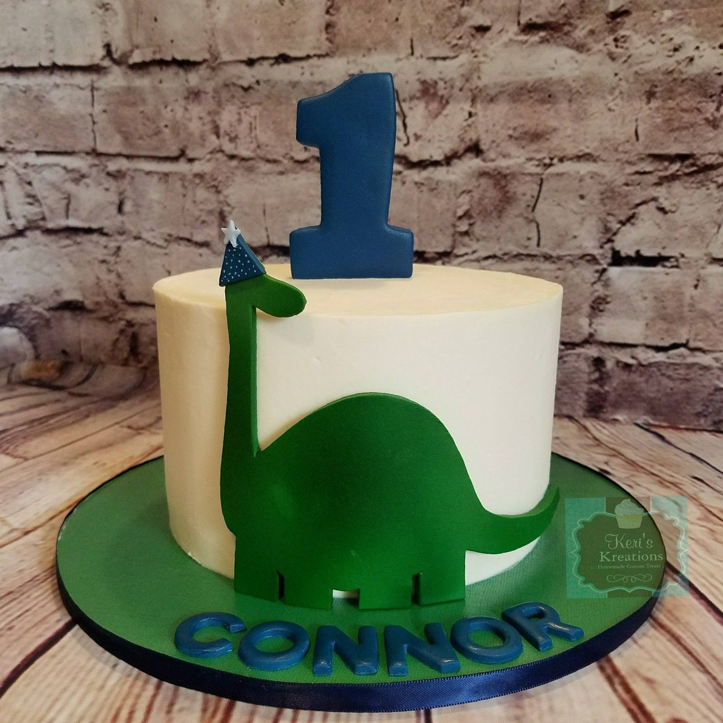 Dinosaur Smash Cake 1st Birthday Dino Party Keris
