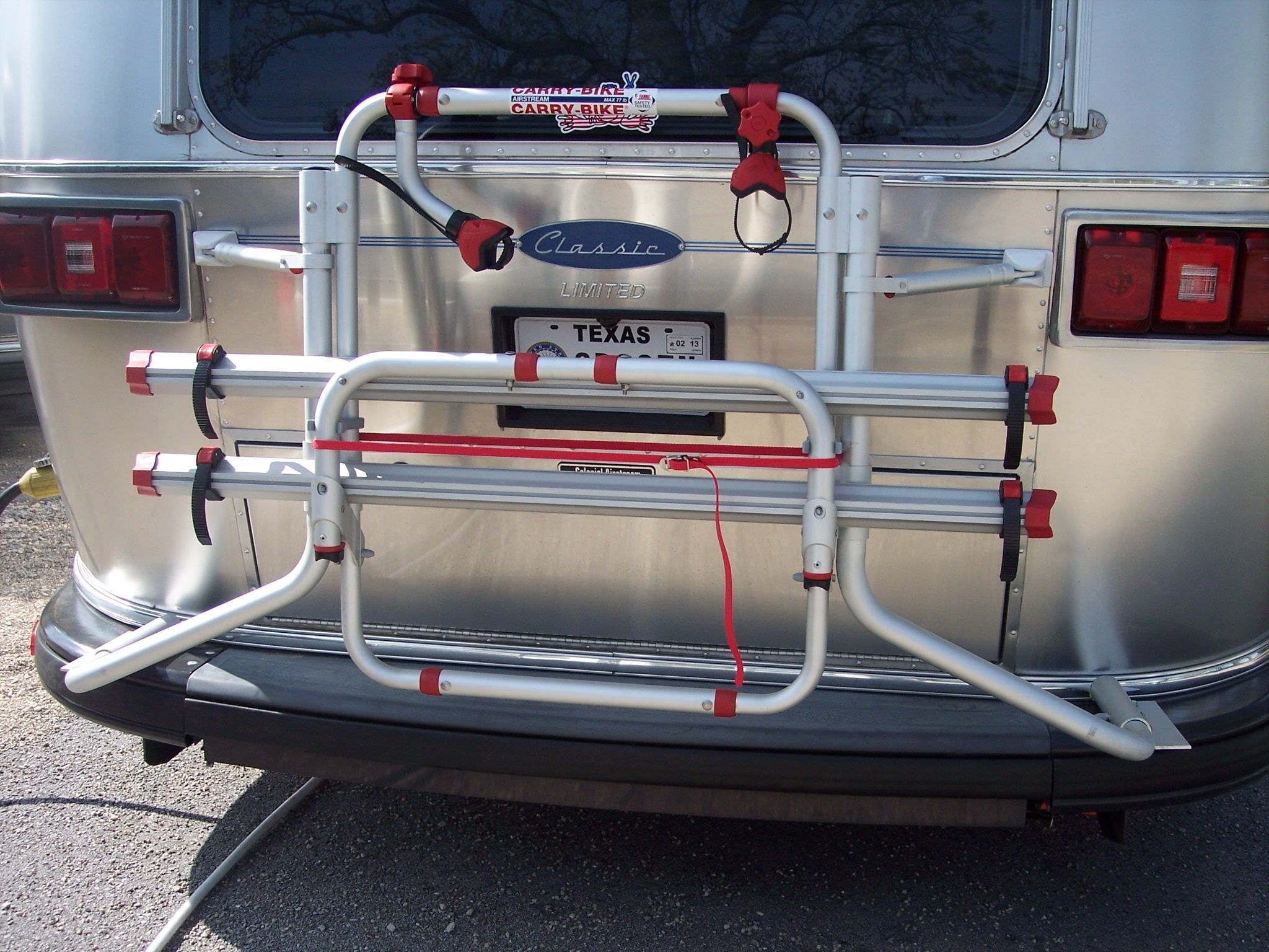 Airstream Carry Bikes By Fiamma Classic Excella Airstream Store Airstream Airstream Travel Trailers Rv Living Full Time