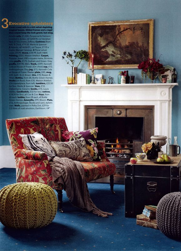 Family Room Design Ideas That Will Keep Everyone Happy: English Eccentrics. Photo Daniel Farmer For Country Homes & Interiors « Sarah Kaye Blog (With