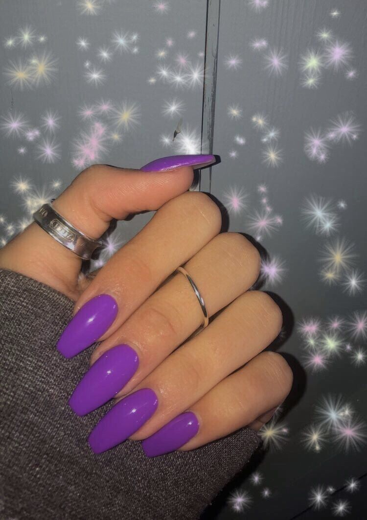 Purple Acrylics Purple Acrylic Nails Acrylic Nails Coffin Short Best Acrylic Nails