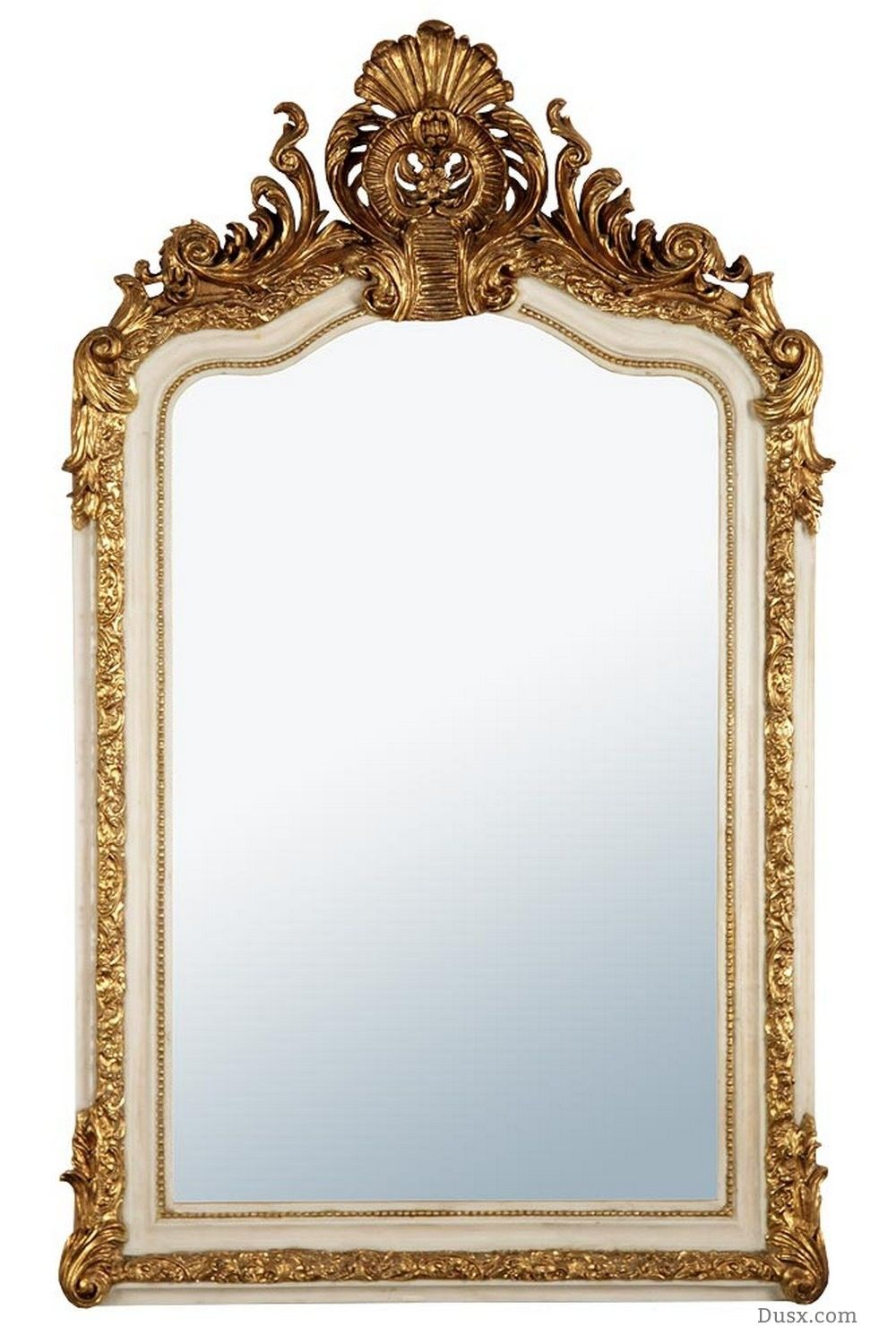 Anastasia French Rococo White & Gold Bevelled Mirror : For sale at ...