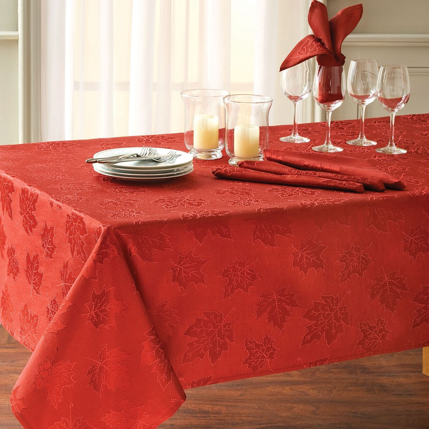 Harvest Table Linens Hampshire Fall Leaf Tablecloth Shopko Com