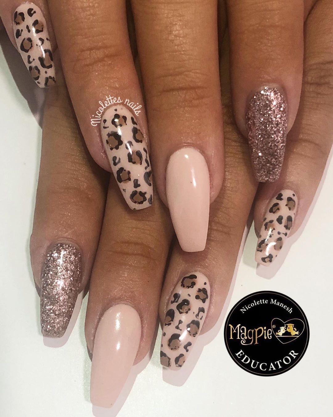 Leopard Print Using All Magpie Beauty Products Everythingmagpie Magpiebeauty Magpieglitter Scra Leopard Print Nails Leopard Nails Pink Leopard Nails