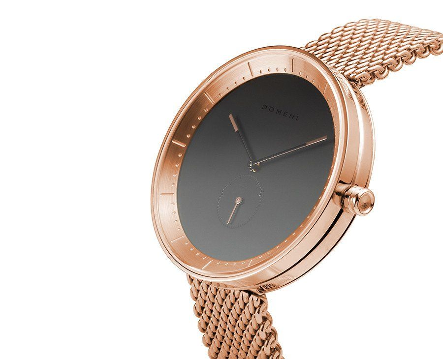 Rose Gold Signature Series in Milanese Mesh Wristwatches Rose and