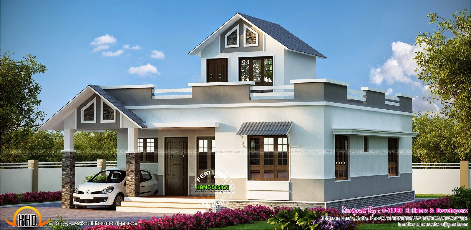 1188 Square Feet Mixed Roof House Kerala House Design House Roof Design 2bhk House Plan