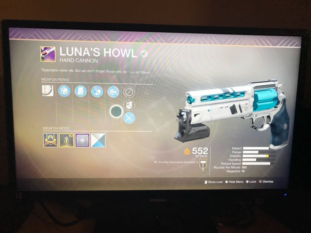 Destiny 2(Xbox) GUARANTEED LUNA HOWLS! Message directly on