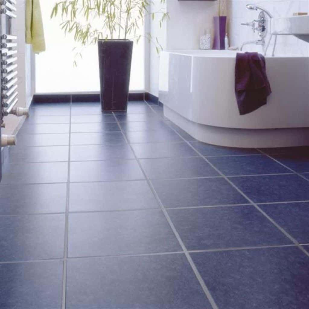 Bathroom With Navy Floor Tiles : Tips To Grouting Floor Tiles