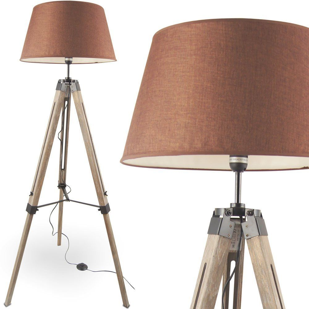 MOJO® Stehlampe Stehleuchte Tripod Lampe Leselampe höhenverstellbar ...