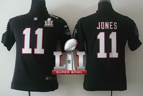 Nike Falcons  11 Julio Jones Black Alternate Super Bowl LI 51 Youth  Stitched NFL Elite Jersey And  Marcus Peters jersey 97eb2dc23