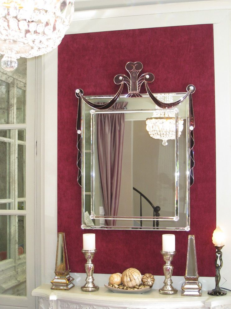 This Mirror Ties In The Architecture And Created The Deco Theme For The House Modern Art Deco Interior Art Deco Style Furniture Art Deco Interior