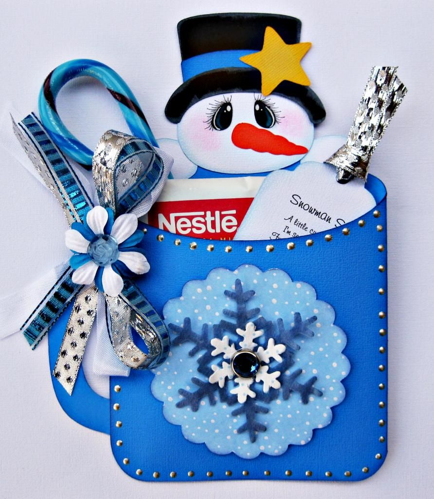 Handmade Christmas Hot Cocoa Treat Gift Card Holder with