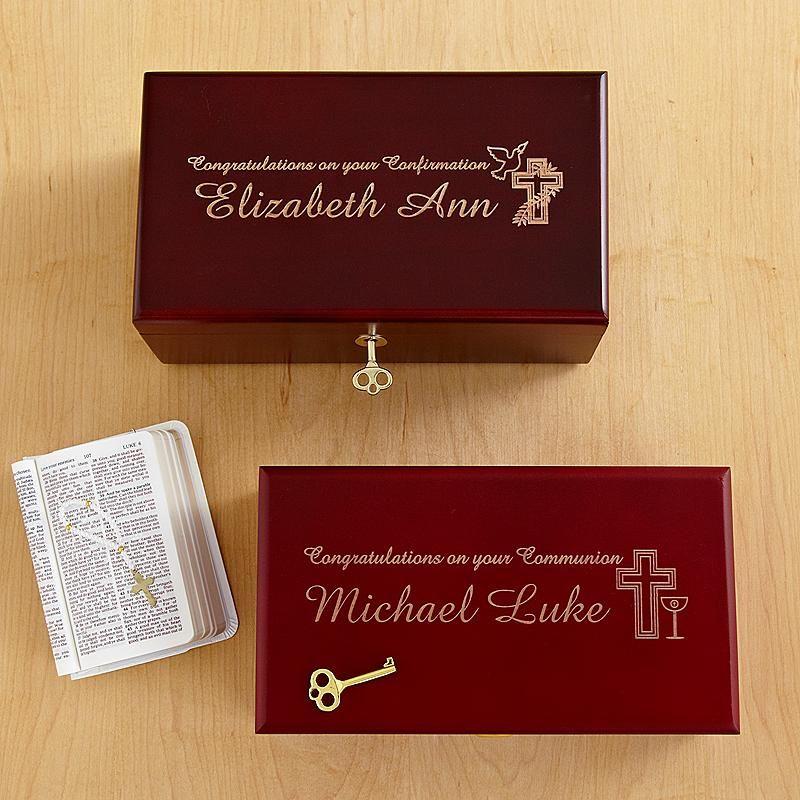 Locking Heirloom Communion & Confirmation Keepsake Box | First ...