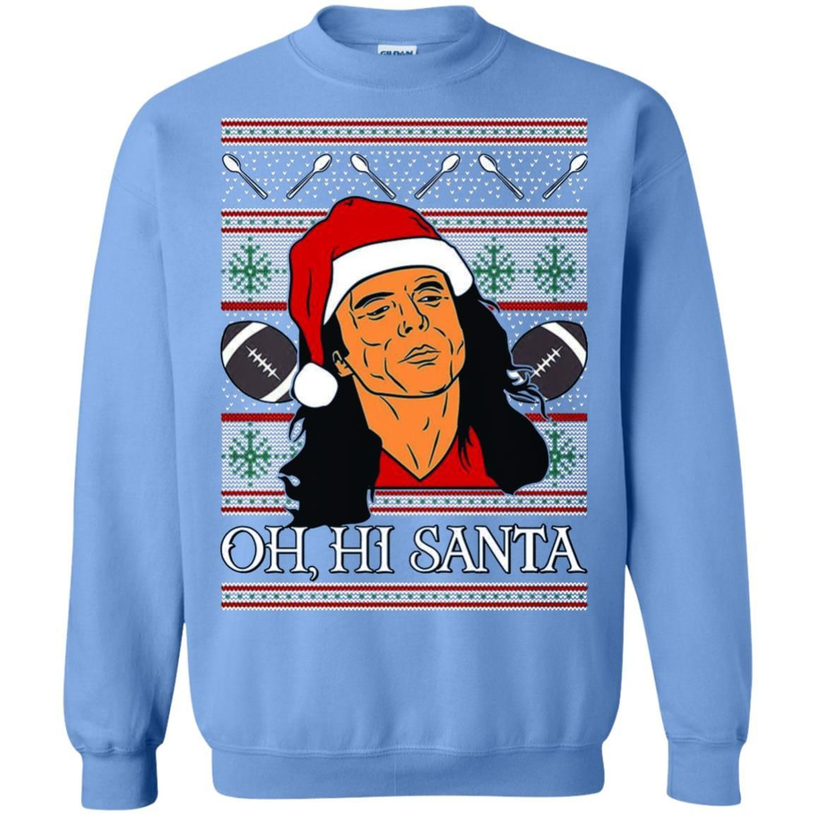 Oh Hi Santa Tw Ugly Christmas Crewneck Sweater T Shirt Products