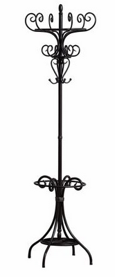 This Black Metal Coat Rack From Coaster Model Fits Nicely In An Entry