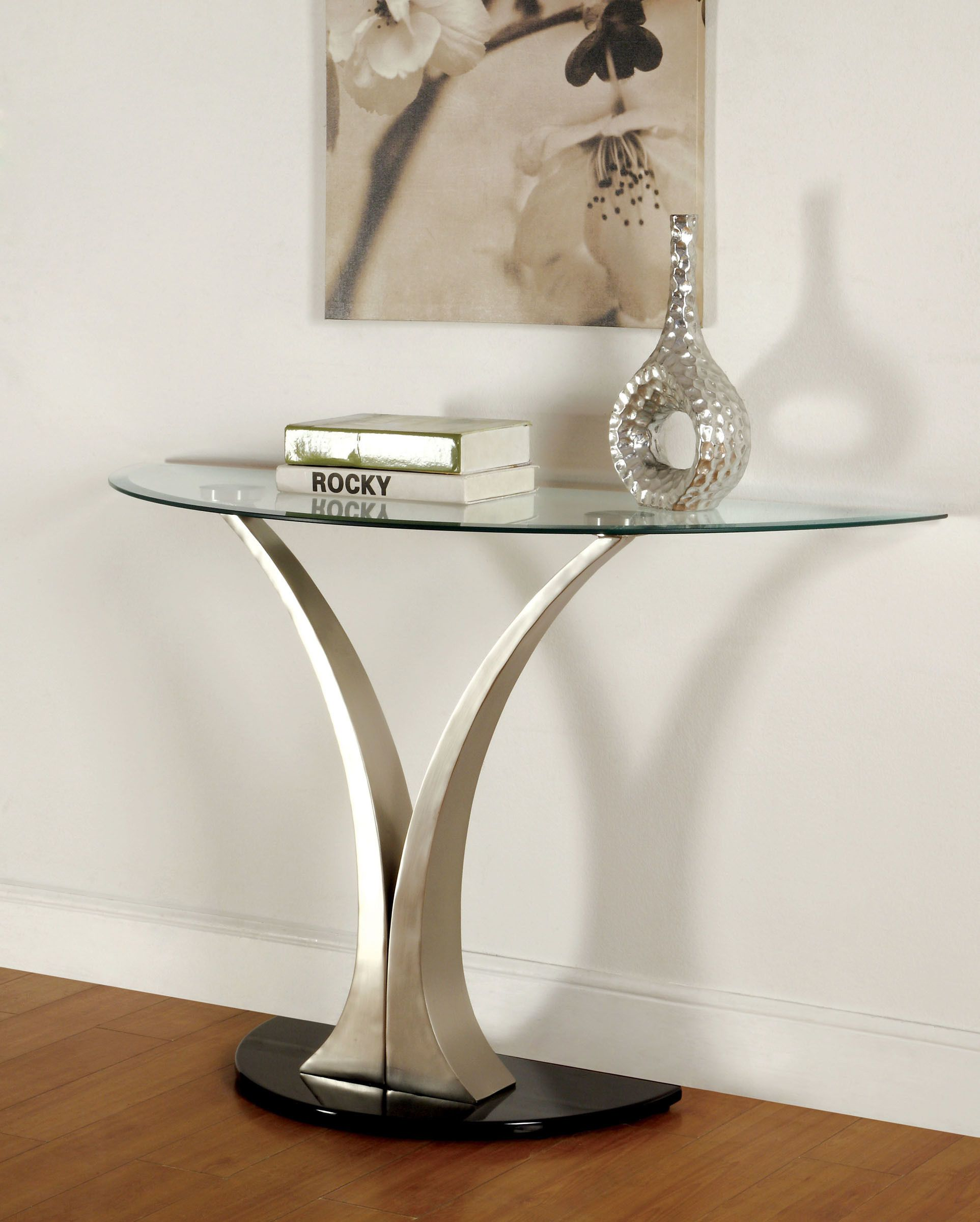 Furniture Of America Valo Bevelled Glass Top Modern Coffee Table