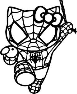 Superheroes Are Not Just For Boys Hello Kitty Spiderman Vinyl Window Decal Sticker Available In 23 Colors