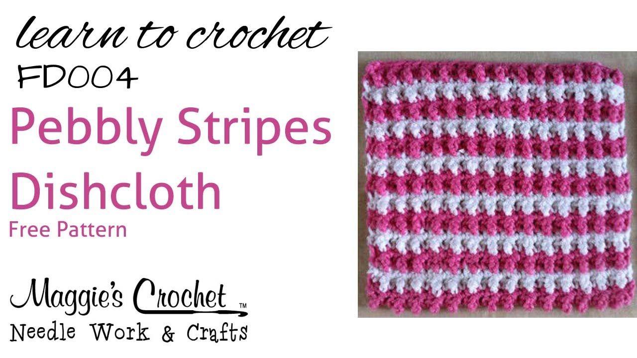 Pebbly Stripes Crochet Tutorial Video | crochet | Pinterest