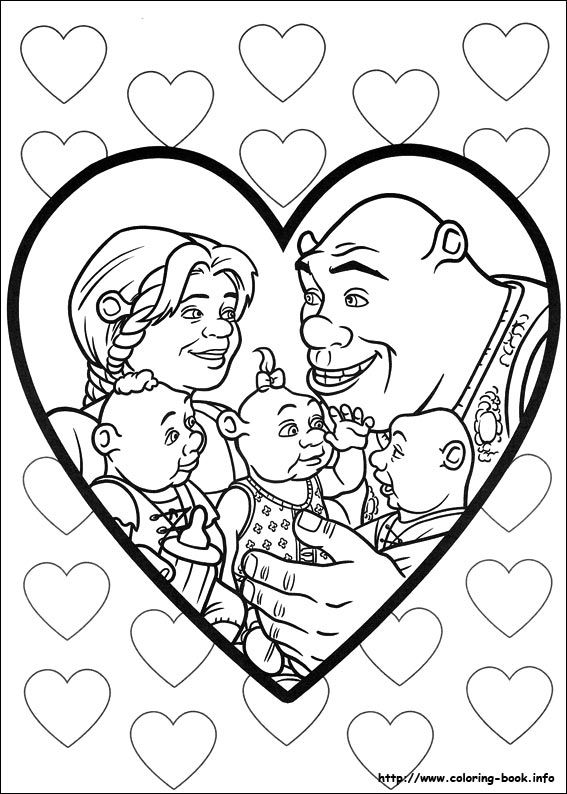 Shrek Forever after coloring picture My coloring pages