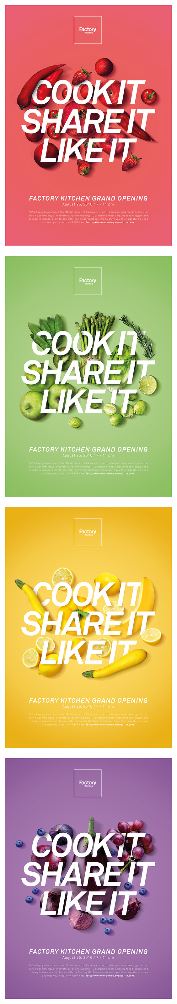 Factory Kitchen Grand Opening Posters | Factory Kitchen ...