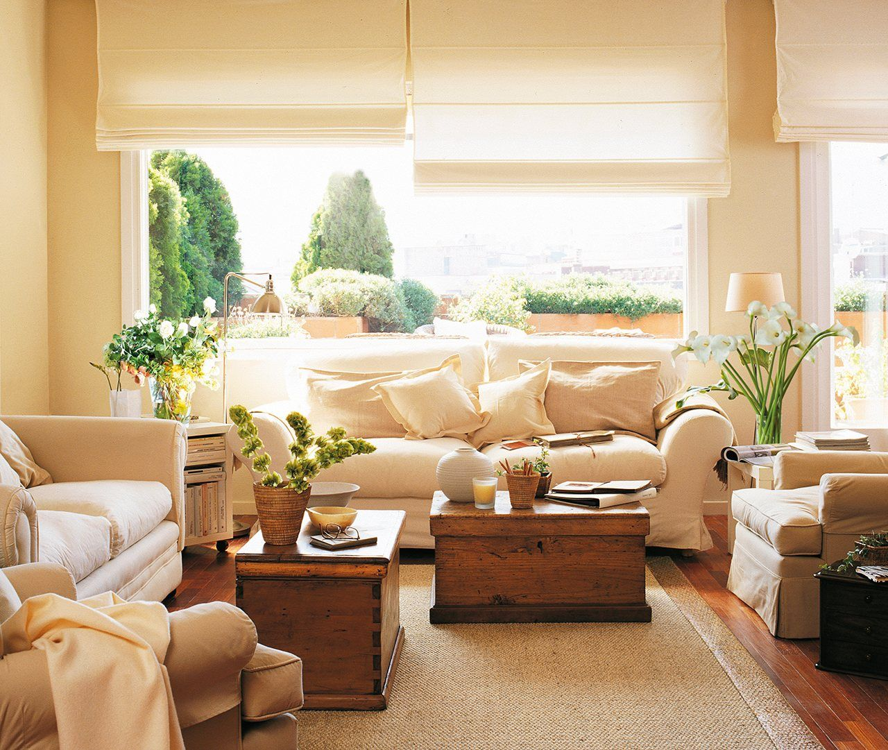 30 salones peque os y confortables casas pinterest - El mueble salones pequenos ...