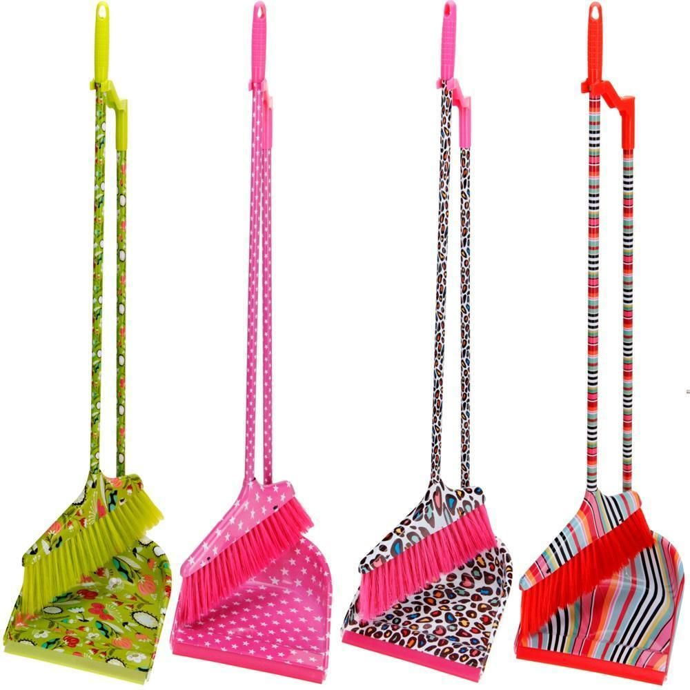 Upright Long Handle Dustpan Dust Pan And Brush Set Garden Broom Sweeper Cleaner