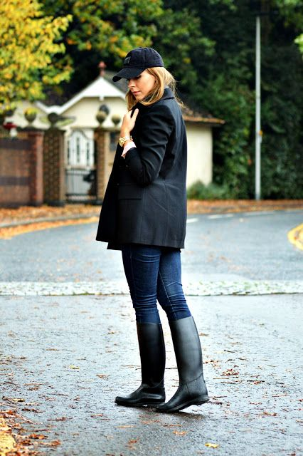 Femmes In Rubber Boots Riding Boots Boots Wellies