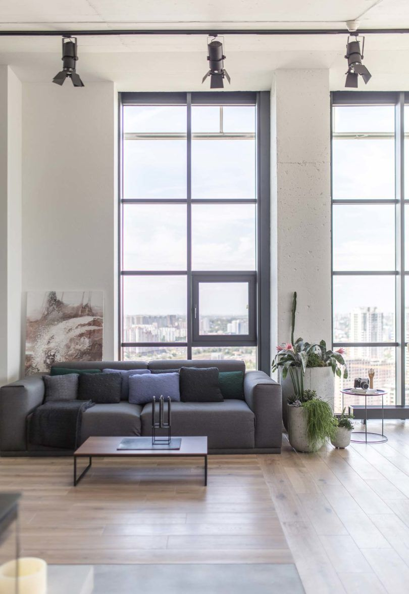 A former equipment room is converted into a penthouse apartment in