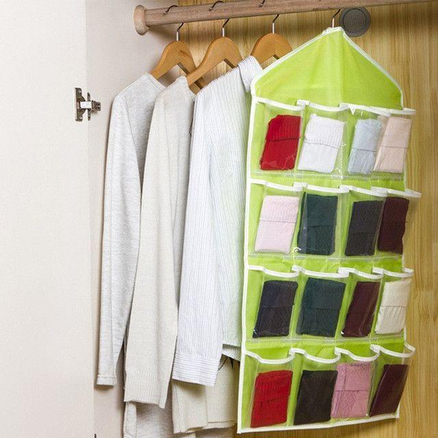 Hot Door Hanging Bag 16 Holes Hanger Storage Organizer Home Sorter