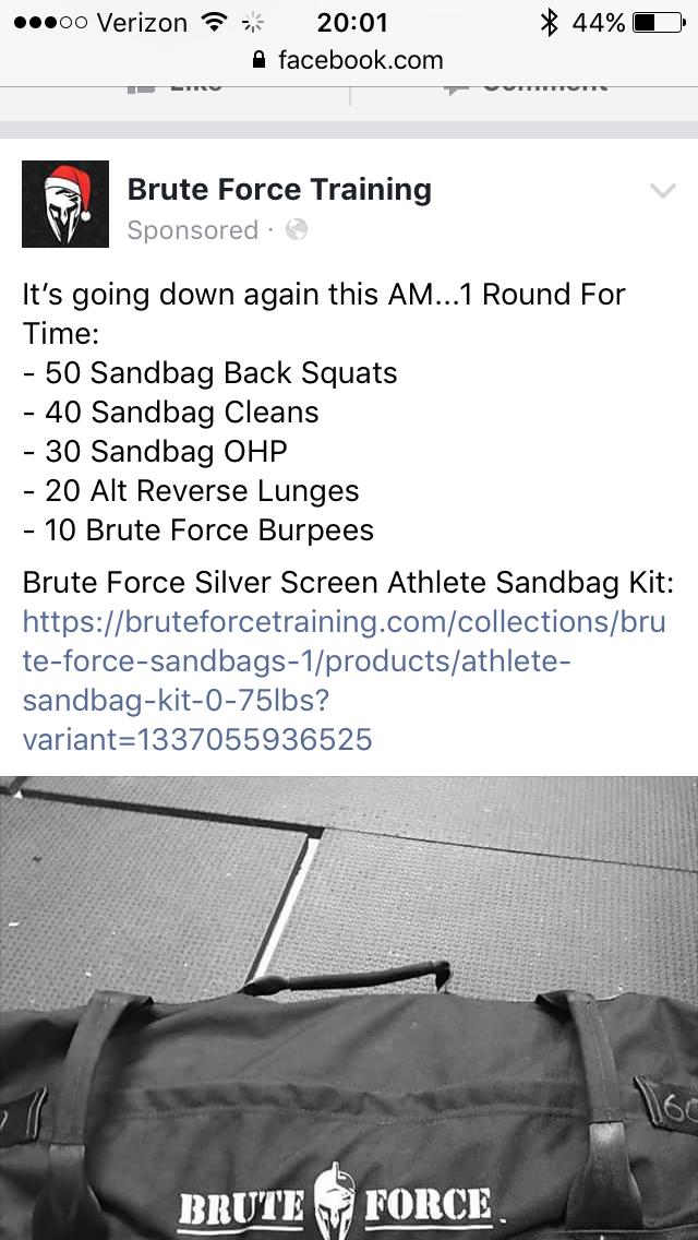 Brute Strength Sandbag Training Program