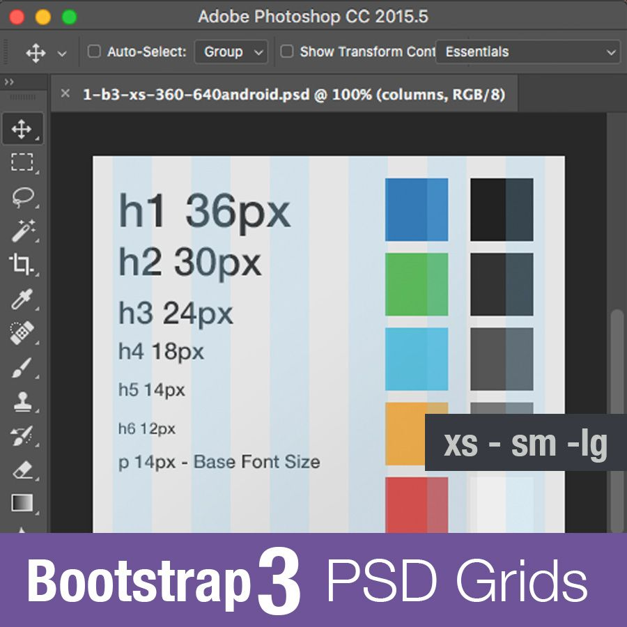 Bootstrap 3 PSD Grid Template #free #webdesign #photoshop ...