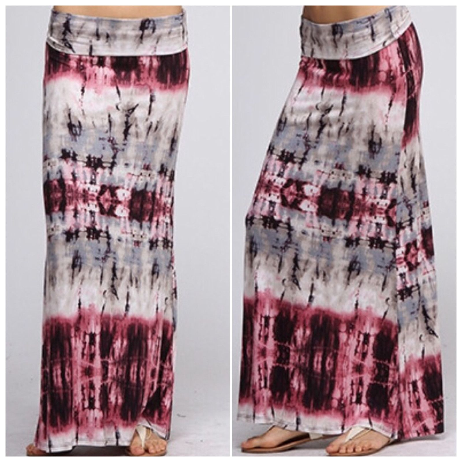 New arrival! If you loved our mono chrome maxi then you'll love the new purple tie dye maxi-skirt. Now available! http://pict.com/p/D3N
