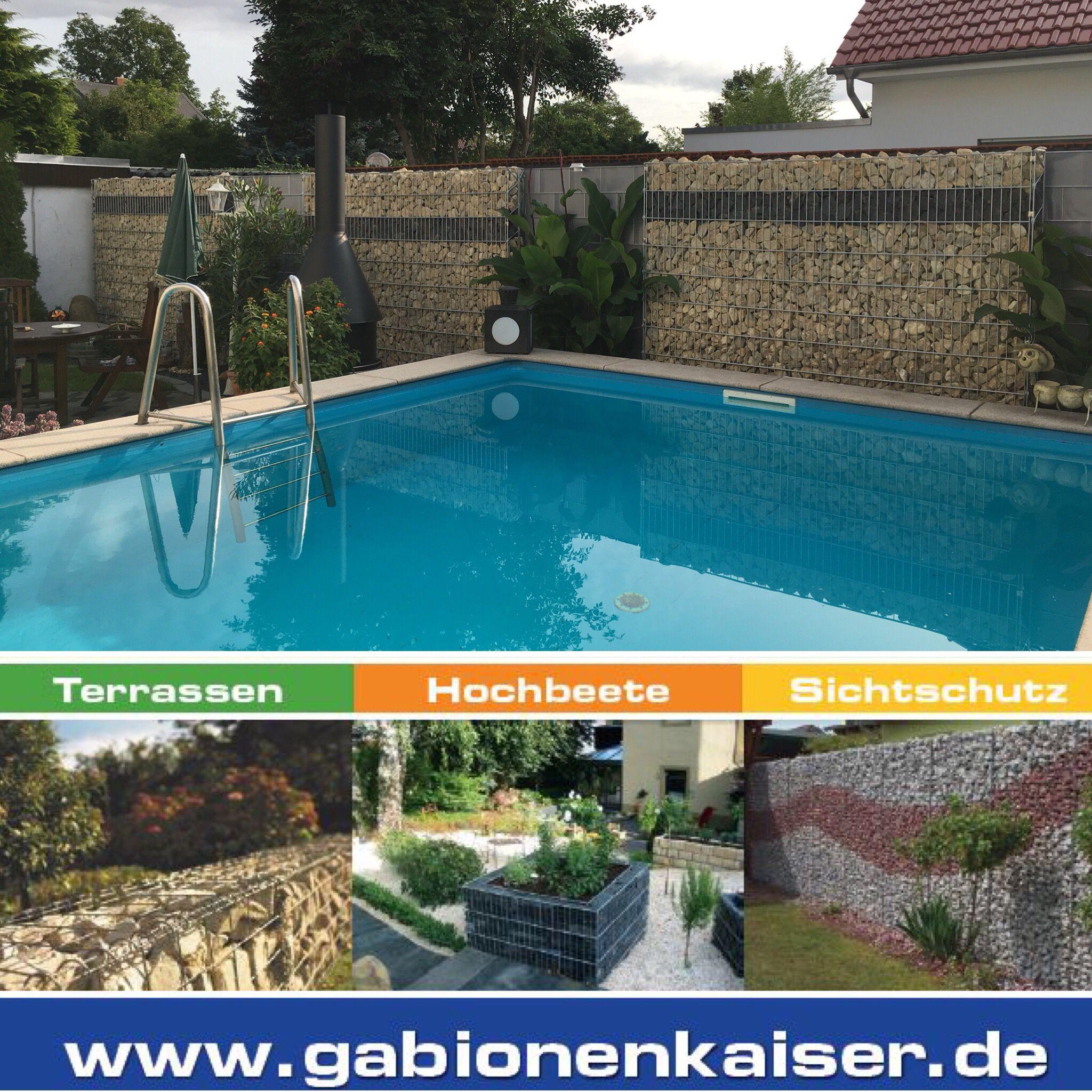 Dieser Pool Und Terrassenbreich Bieten Perfekten Sichtschutz Und