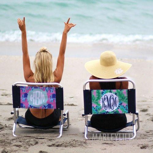 Monogrammed Beach Chair Beach Monogram Beach Chairs Beach Gifts