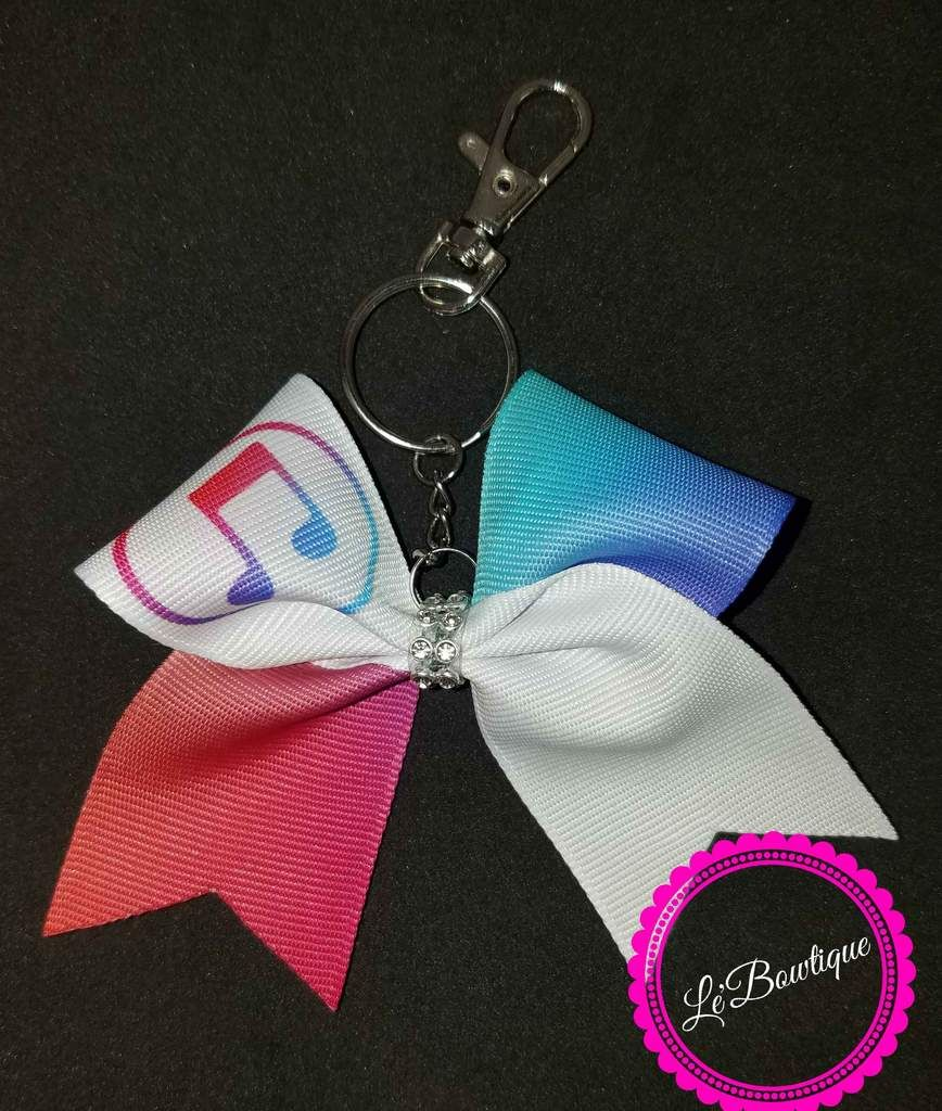 a15d67469555 iTunes Keychain Bow Cheer Bows, Itunes, Gymnastics, Sparkly Cheer Bows, Cheerleading  Bows