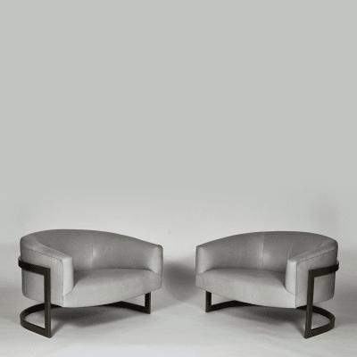 Milo Baughman Pair of Lounge Chairs Milo Baughman USA c 1970 s