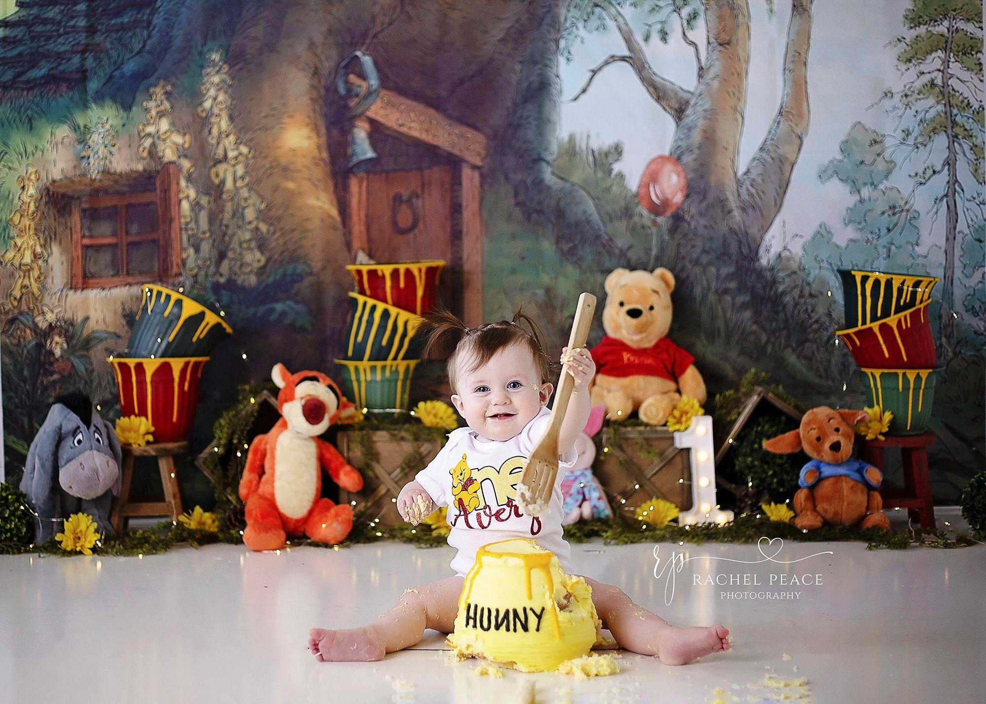 Avery in 2020 winnie the pooh cake half birthday baby