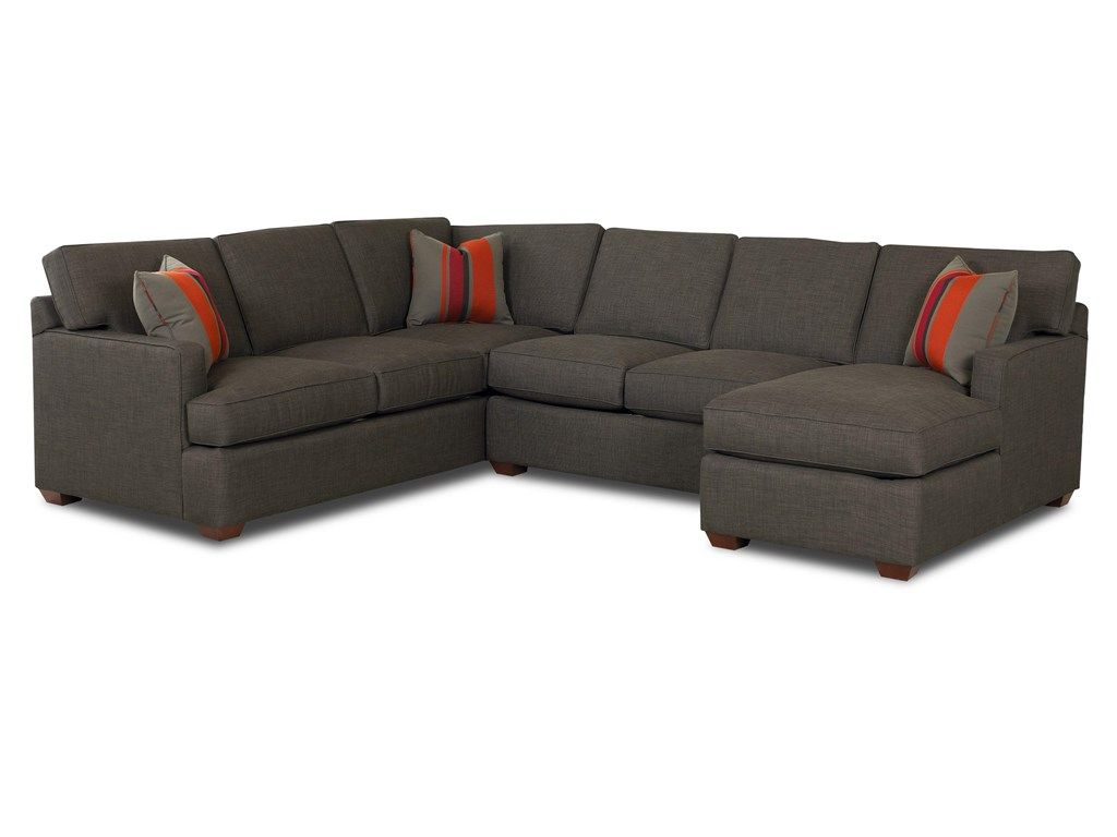 Shop For Klaussner Loomis 3 Piece Sectional G49762 And