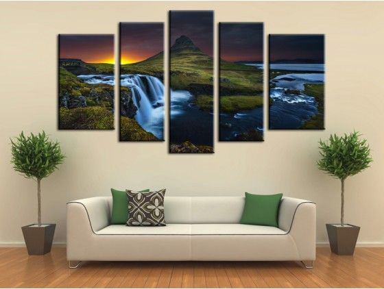 tableau photo kurkjifell islande decoration murale tableau paysages pinterest tableaux. Black Bedroom Furniture Sets. Home Design Ideas