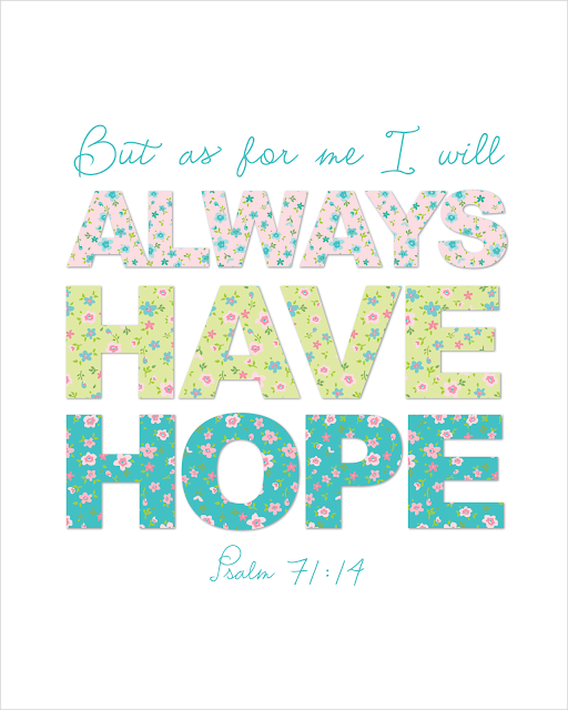 """Delightful Distractions: """"Always Have Hope"""" Free Printable for the New Year!"""