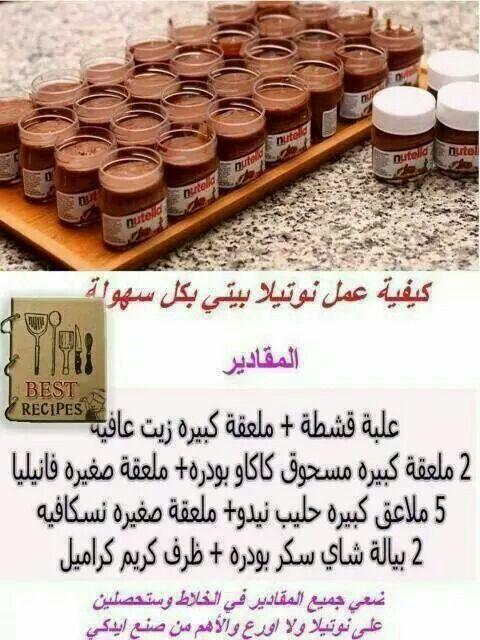 النوتيلا Ingredients Recipes Arabic Food Sweet Sauce