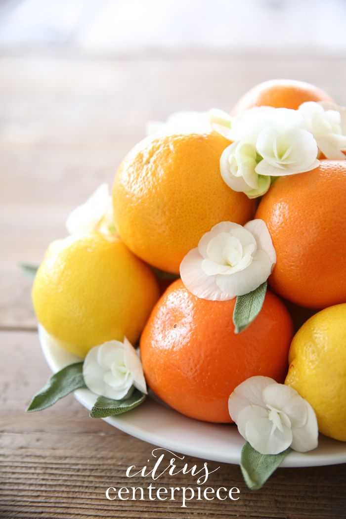 Wonderful Simple Summer Centerpiece Made Of Citrus   Get The Easy DIY Details! Awesome Ideas
