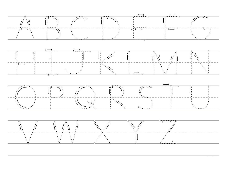 Free Traceable Alphabet Uppercase