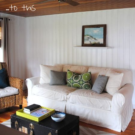 home dzine give knotty pine a lick of paint knotty pine and mcm rh pinterest com